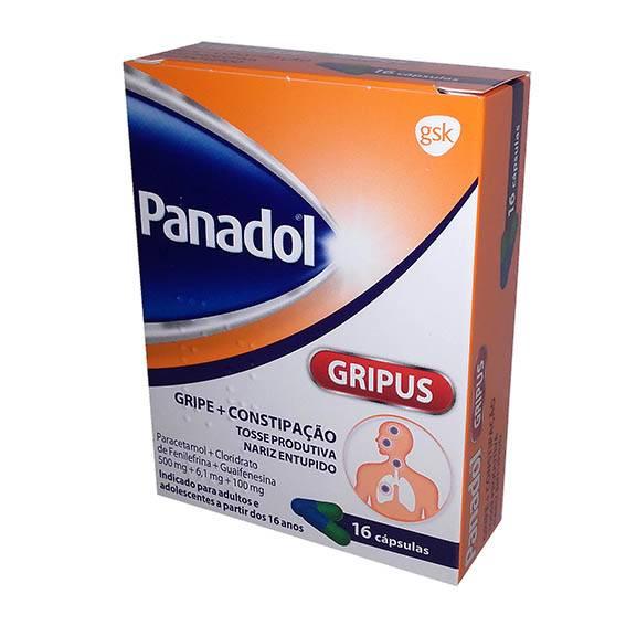 Panadol Gripus 500/6,1/100 mg X 16 Cápsulas