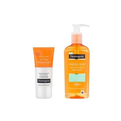 Neutrogena Visible Clear Creme Hidratante Oil Free + OFERTA Gel de Limpeza diária 50ml + 200 ml