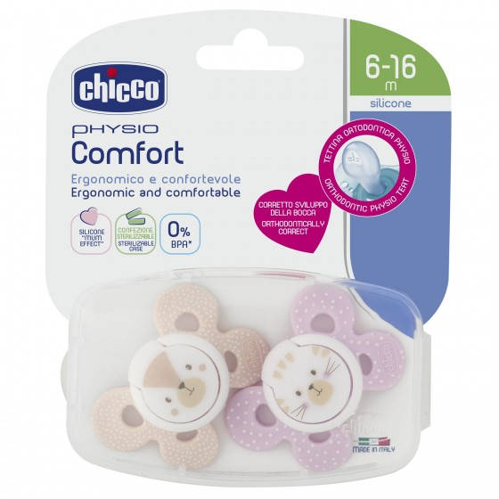 Chicco Physio Comfort Chupeta Girl 6-16m X2