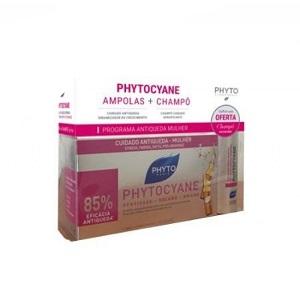 Phytocyane Ampolas Queda Mulher 7,5ml x12+ OFERTA Champô Phytocyane