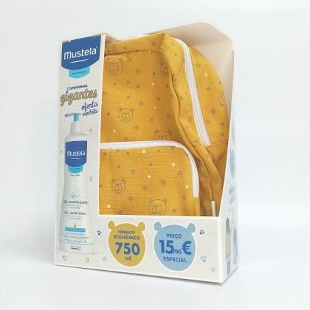 Mustela Bebé Pele Normal Gel Lavante Suave + OFERTA Mochila dos Gigantes 750ml