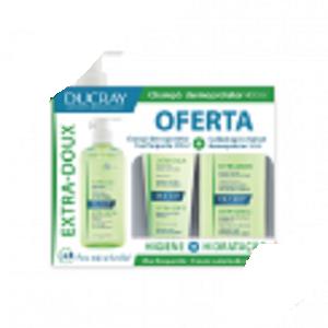 Ducray Extra-Doux Champô Dermoprotetor + OFERTA Champô Embalagem Pequena + OFERTA Cuidado Após Champô