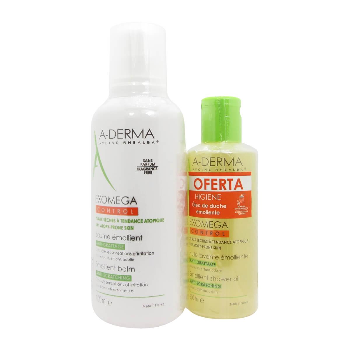 A-Derma Exomega Control Creme Emoliente 400ml+OFERTA  Oleo 200ml