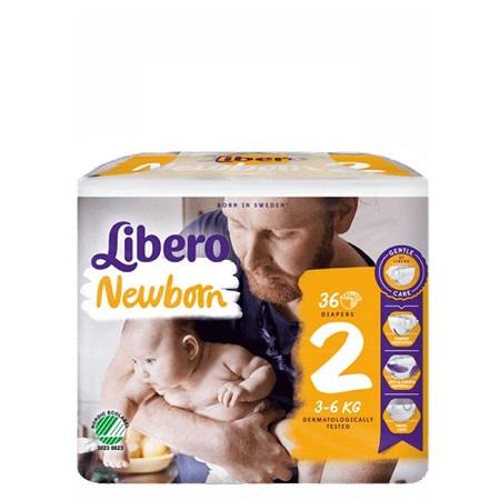 Libero Fraldas Baby Soft Recém-Nascido Tam 2 (3 - 6 Kg) x 36