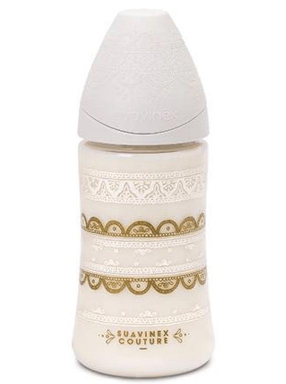 Suavinex Couture Biberão Silicone 3 Posições 270ml Branco