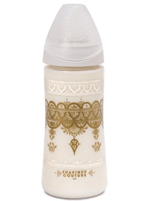 Suavinex Couture Biberão Silicone Papa 360ml Branco