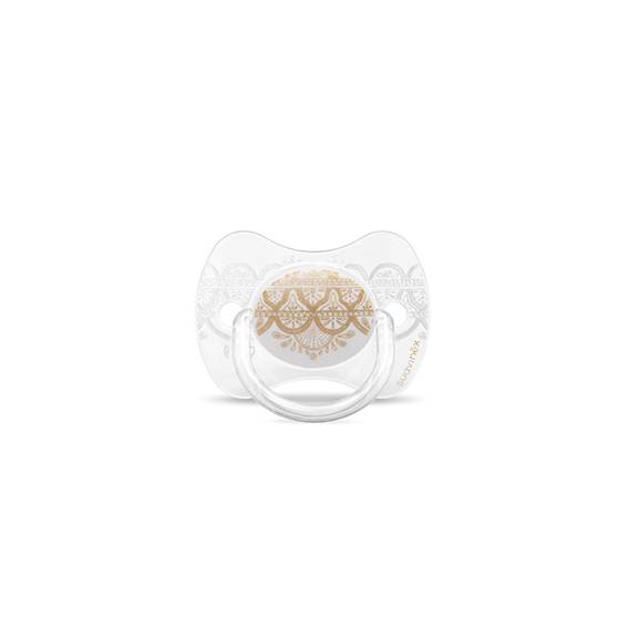 Suavinex Couture Chupeta Silicone Fisiológica 0-4M Branco