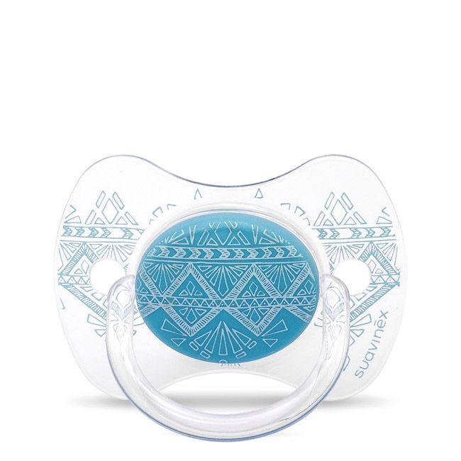 Suavinex Couture Chupeta Silicone Fisiológica 0-4M Azul Claro