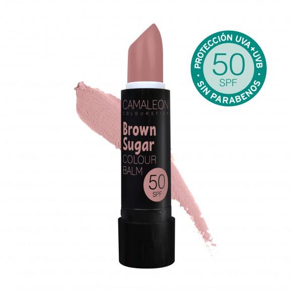 Camaleon Colour Balsamo Labial Brown Sugar SPF50 4g