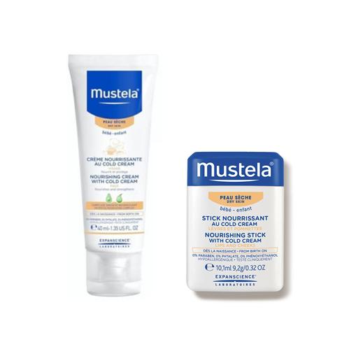 Mustela Bebé Pele Seca Creme Nutritivo com Cold Cream + OFERTA Hydra-Stick com Cold Cream