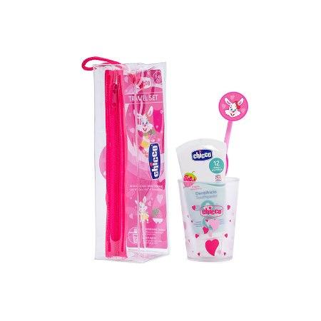 Chicco Conjunto Higiene Oral 3-6 anos Rosa
