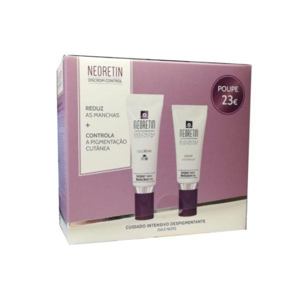 Neoretín Discrom Gel creme despigmentante SPF50 40 ml + Sérum despigmentante 30 ml