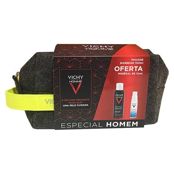 Vichy Homme Coffret Mousse de Barbear + OFERTA Minéral 89