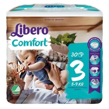 Libero Fraldas Comfort Tam 3 (5-9kg) X30