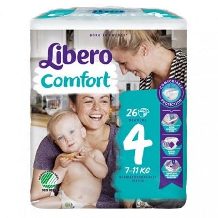 Libero Fraldas Comfort Tam 4 (7-11kg) X26