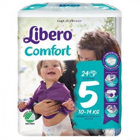 Libero Fraldas Comfort Tam 5 (10-14kg) X24