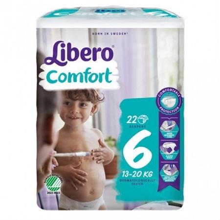 Libero Fraldas Comfort Tam 6 (13-20kg) X22