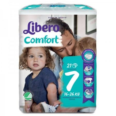 Libero Fraldas Comfort Tam 7 (16-26kg) X21