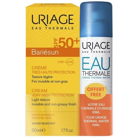 Uriage Bariésun Creme SPF50+ 50 ml + OFERTA Eau Thermale Água Termal 50 ml