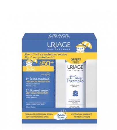 Uriage Bebé Creme mineral SPF50+ 50 ml + Oferta de Água termal 50 ml
