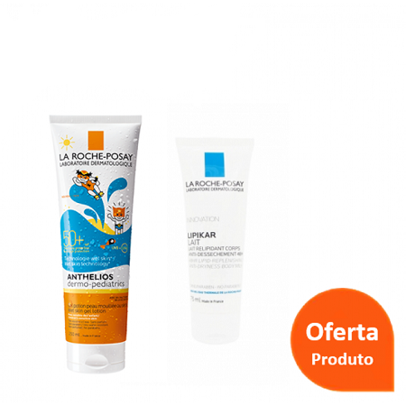 La Roche Posay Anthelios Dermo-Pediatrics Gel Wet Skin SPF50 + OFERTA Lipikar Leite