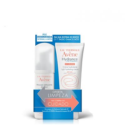 Avène PACK Hydrance Creme Suave UV20 40ml +OFERTA Mousse Limpeza Matificante 50ml