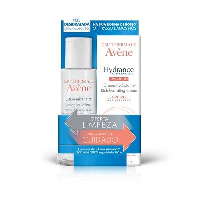 Avène PACK Hydrance Creme Rico UV20 40ml +OFERTA Loção Micelar 100ml
