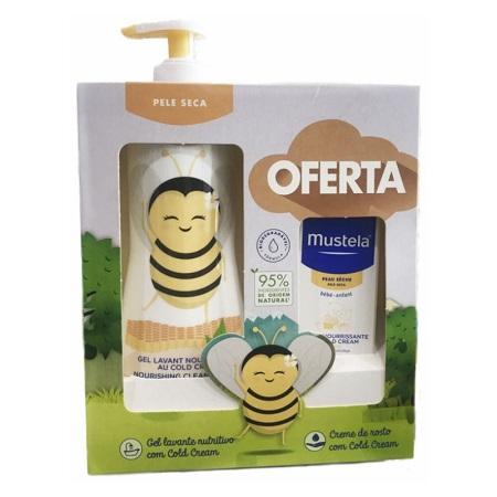Mustela Gel Lavante Com Cold Cream Abelha + OFERTA Creme Rosto Nutritivo com Cold Cream