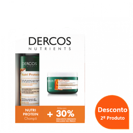 Dercos Nutrients Pack Promocional Nutri  Protein Champô Reconstituinte +Balsamo 30% Desconto