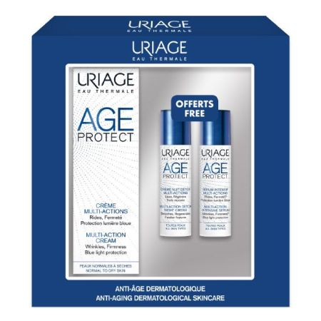 Uriage Age Protect Creme multi-açőes envelhecimento 40 ml + OFERTA  Sérum intensivo envelhecimento 10 ml + Creme de noite peeling 10 ml