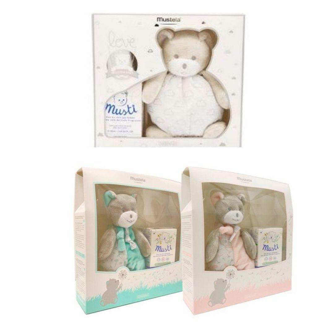 Mustela Love Welcome Baby Coffret Musti Natal - Prateado+ OFERTA Peluche