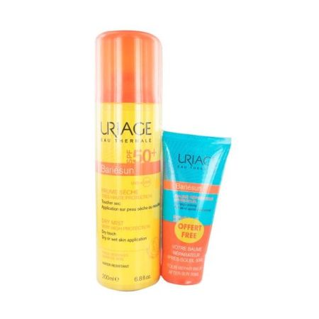 Uriage Bariésun Spray SPF50+ 200 ml + OFERTA de Bálsamo reparador pós-solar 50 ml