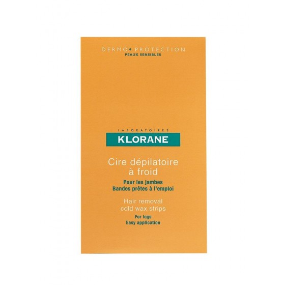 Klorane Bandas de cera fria depilatória  x6