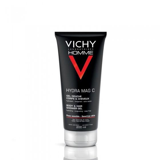 Vichy Homme Hydramag C Gel de Banho Hidratante Revigorante Gel 200ml