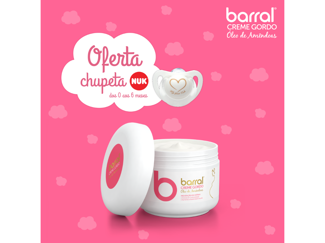 Barral MotherProtect Creme gordo 200 ml com Oferta BabyProtect Porta-chupeta