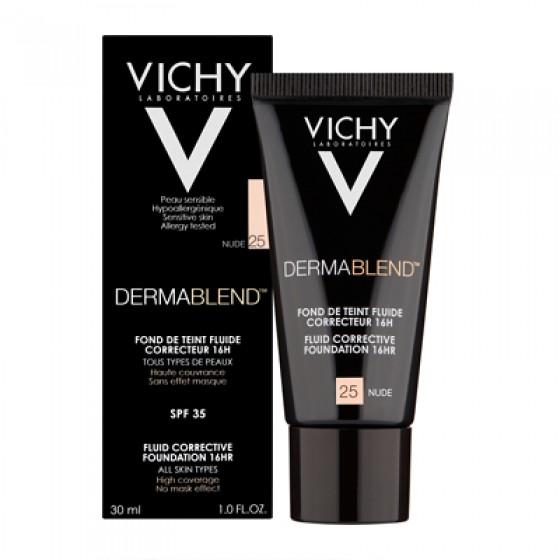 Vichy Dermablend Base Corretora Fluída - Tom 25 Nude  30ml