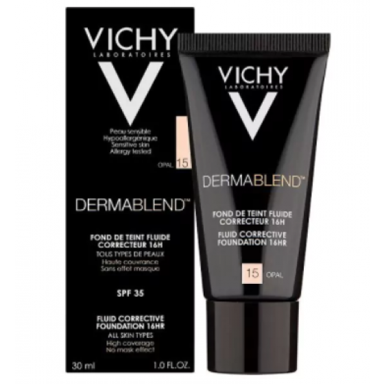 Vichy Dermablend Base Corretora Fluída - Tom 15 Opal  30ml