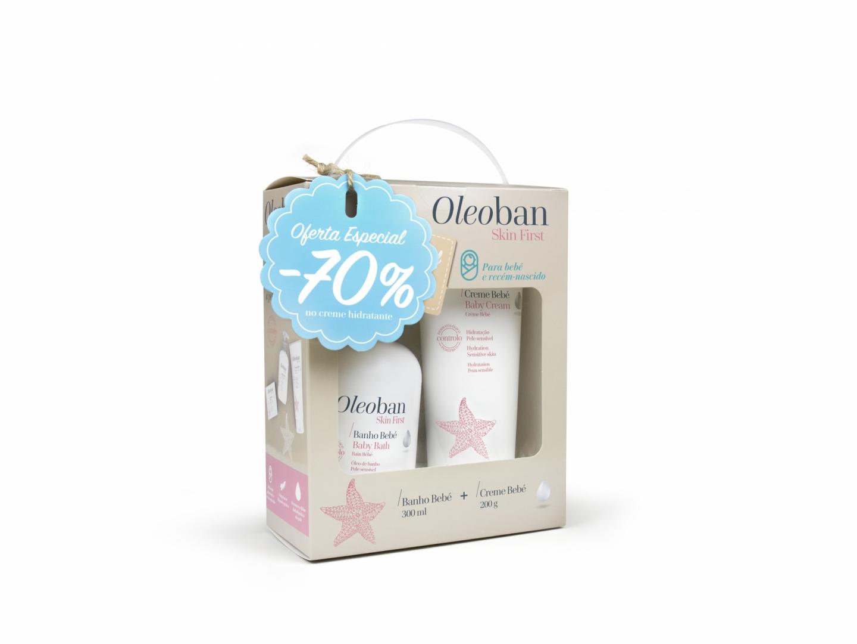 Oleoban Bebé Óleo de banho 300 ml + Creme hidratante 200 g com Desconto de 70% na 2ª Embalagem