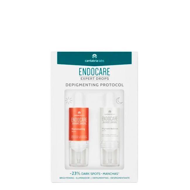 Endocare Expert Drops Depigmenting Protocol Sérum iluminador 10 ml + Sérum despigmentante 10 ml