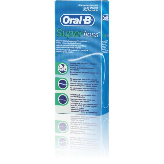 Oral B Fio Dentátio Super Floss X 50