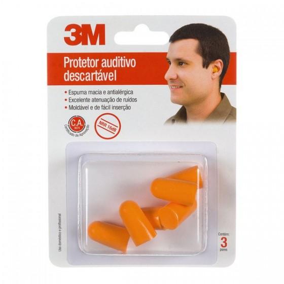 3M Protetores Auditivos Descartáveis Adulto