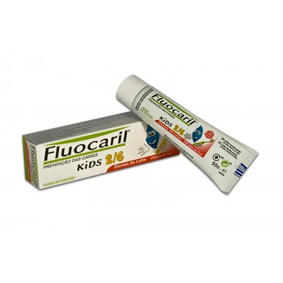 Fluocaril Kids Pasta de Dentes Morango 2-6 anos