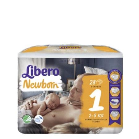 Libero Baby Soft Recém-nascido Tam 1 (2-4kg) x28