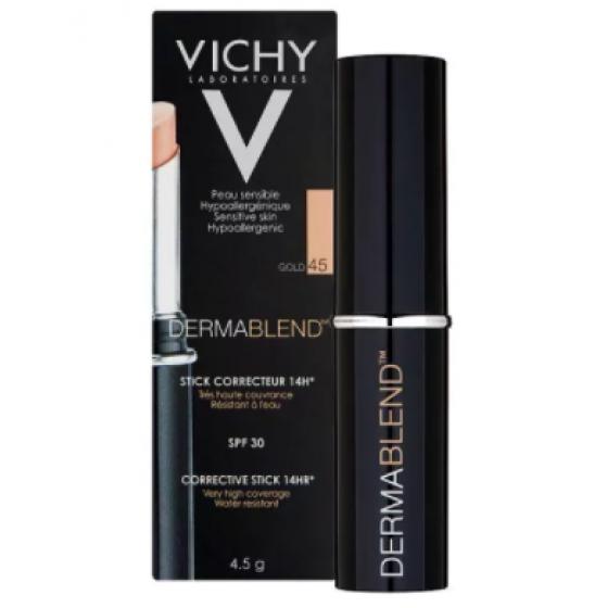 Vichy Dermablend Stick Corretor Tom 45 - Dourado 4,5g