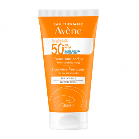 Avene Solar Spf50+ Creme Sem Perfume 50ml