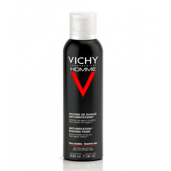 Vichy Homme Mousse de Barbear Anti-Irritações 200ml