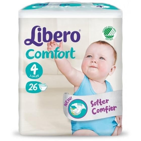 Libero Comfort Fit Tam 4 (7-14Kg) X 26