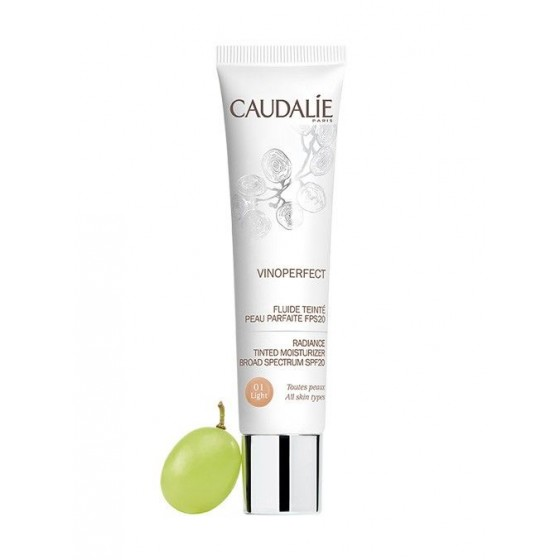 Caudalie Vinoperfect Fluído Cor 01 Tom Claro SPF20 40ml