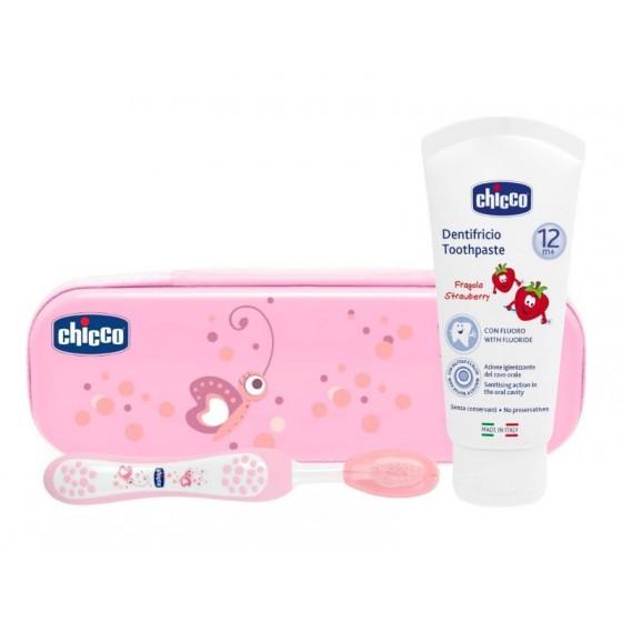 Chicco Estojo Higiene Oral Rosa 12M+