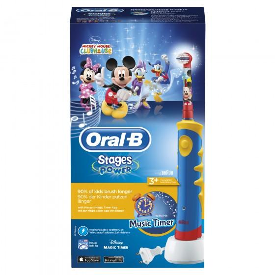 Oral-B Escova de Dentes Elétrica Infantil Stages Power Mickey